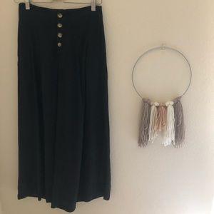 Zara wide leg black pant / trousers